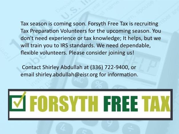 FOrsyth Free Tax Volunteer