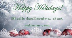 Holiday Closing 12-24-18 and 1-1-19
